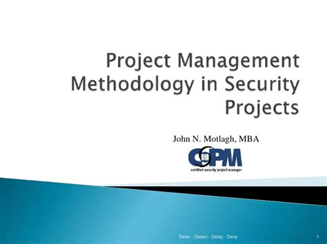 Mba In It Security Management by Security Project Management