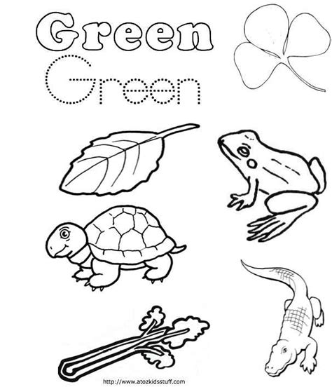 Green Coloring Page free coloring pages of green color