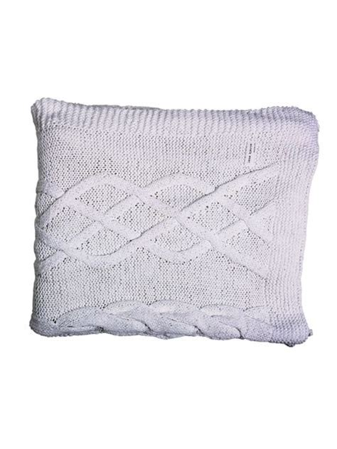 white knitted throw white cable knit throw