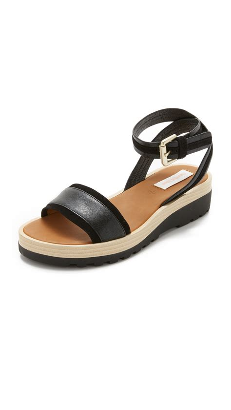 see by sandals lyst see by chlo 233 robin sandals in black