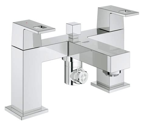 grohe bathtub grohe eurocube two handled bath shower mixer 25137000