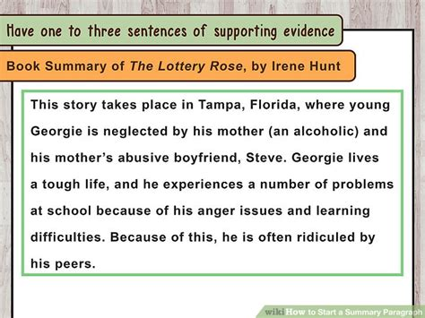 A Place Plot Summary How To Start A Summary Paragraph 10 Steps With Pictures