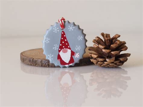 scandinavian gnome ornament nordic christmas ornament clay