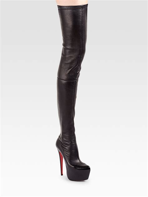 Christian Louboutin Boots 1 Lyst Christian Louboutin Monicarina Thighhigh Leather