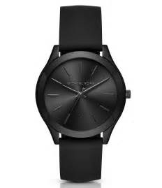 michael kors slim runway silicone in black for