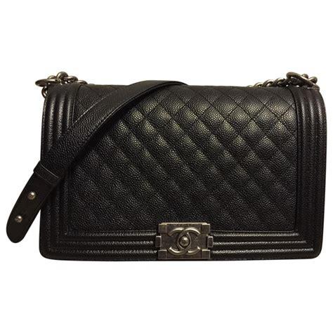 chanel boy caviar so black 9003 black leather chanel handbag vestiaire collective
