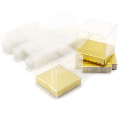 25pcs clear pvc plastic gift box wedding favour sweet