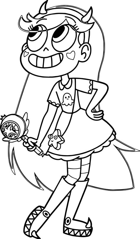 star butterfly coloring page star vs the forces of evil coloring pages coloring pages