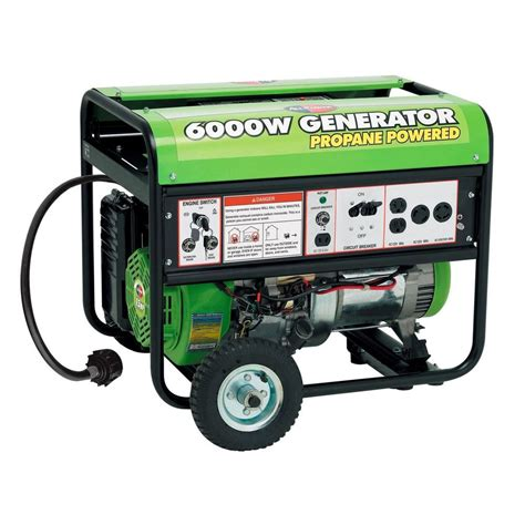 gentron pro2 6000p propane generator electric start 13