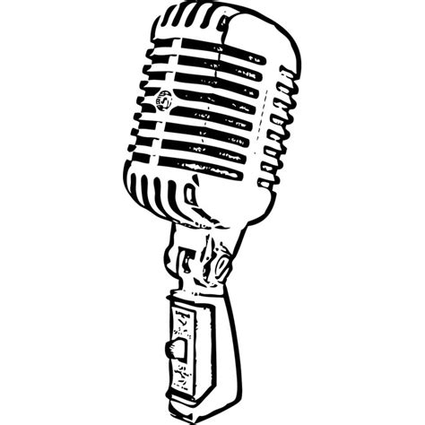 microphone template school microphone clipart 31