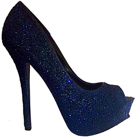 Navy Blue Bridal Heels by Sparkly Navy Blue Glitter Peep Toe High Low Heels Wedding