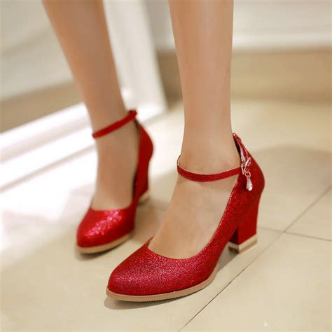 Red Comfortable Heels Fs Heel