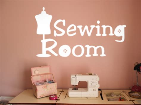 Wall For Sewing Room by Sewing Room Wall Decal Trading Phrases