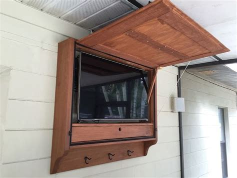 outdoor tv armoire here are our plans for an outdoor tv cabinet we built for