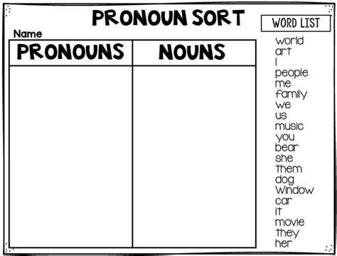 Nouns And Pronouns Worksheet by Best 25 Teaching Pronouns Ideas On Pronoun