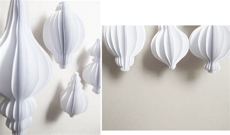Fold Out Paper Decorations - tree ornaments design and form