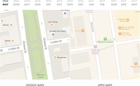 apple google comparison shows just how far behind apple maps is to