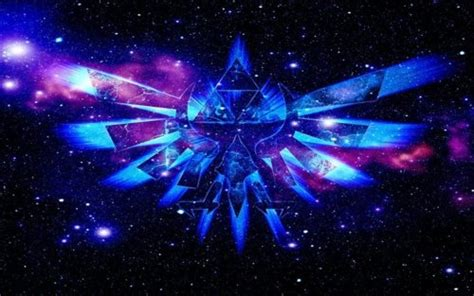 blue zelda wallpaper cosmic triforce wallpaper by venomvoltage78 zelda