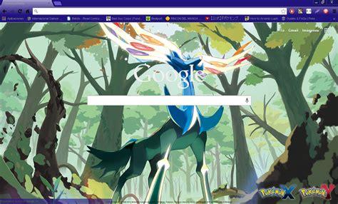 themes google chrome pokemon pokemon x y xerneas google chrome theme by hellfrenzy on