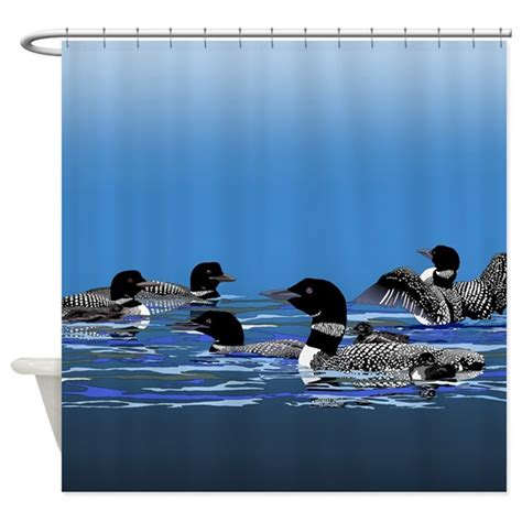 loon shower curtain lots of loons shower curtain by zodiarts