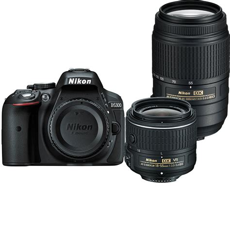 nikon  dslr camera   mm   mm lenses