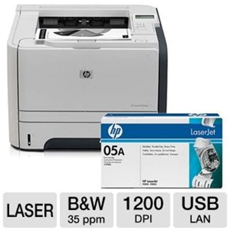 Toner Hp 05a hp laserjet p2055dn printer with networking duplex 2 sided printing hp 05a ce505a