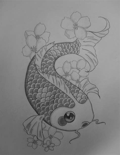 Drawing Koi Fish by Koi Fish Pencil Drawing By Pollofriito On Deviantart