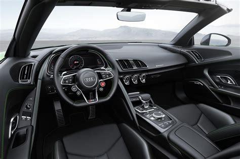 audi r8 interior 2018 audi r8 spyder v10 plus unveiled performancedrive