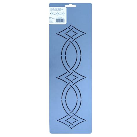 quilting templates for borders sn23 3 25 inch cable border quilting stencil