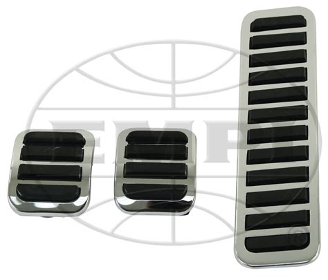 Cover Pedal Gas Sparco pedal pad set brake clutch gas pedal covers rubber chrome empi doghouse repair