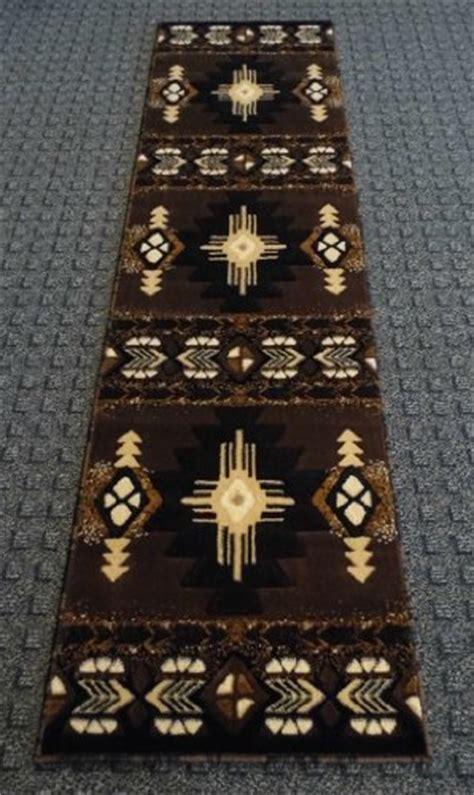western rug runners south west runner rug 2 x 7 chocolate design c318 new free shippin ebay