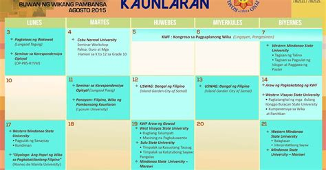 ng include ng template kalendaryo sa buwan ng wikang pambansa 2015 deped
