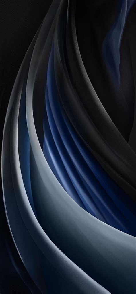 iphone se  stock wallpaper silk space grey mono dark