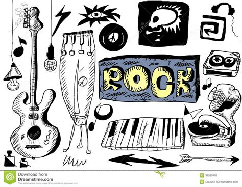 doodle god how to make rock and roll doodle rock stock illustration image of player
