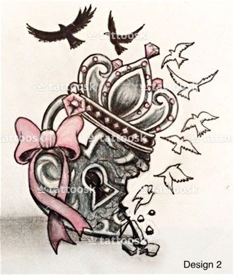 lock up meaning design a cool heart locket with broken hearted crown and birds