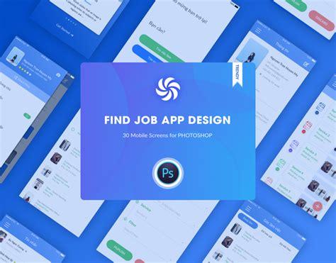app design jobs find job app ui design best psd freebies