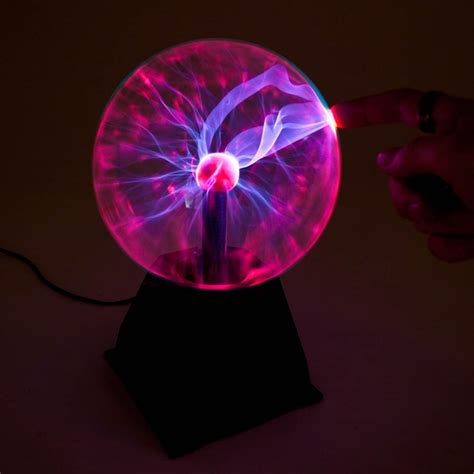 Plasma ball 5 quot butterfly science static electricity light lamp
