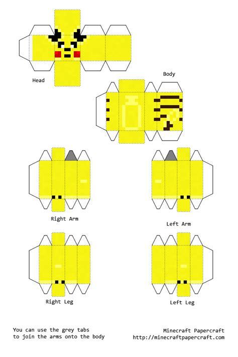 Pikachu Papercraft Template - papercraft pikachu