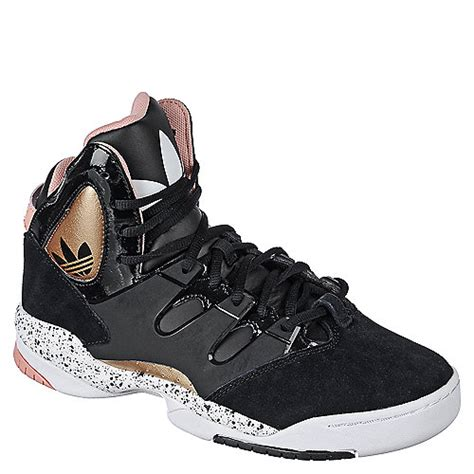 adidas glc w womens black gold pink and white athletic basketball lifestyle sneaker shoe