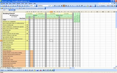 Wedding Planning Excel Spreadsheet by 15 Useful Wedding Spreadsheets Excel Spreadsheet Part 2
