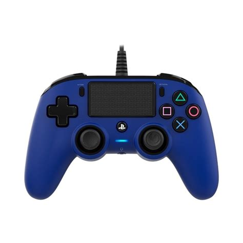 ps4 controller comfort nacon compact wired controller blue ps4 nerd vault