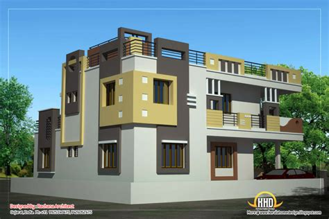Home Design: Duplex House Plan And Elevation Sq Ft Kerala