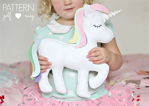 unicorn pattern sewing free felt toy unicorn pattern unicorn pillow unicorn cushion