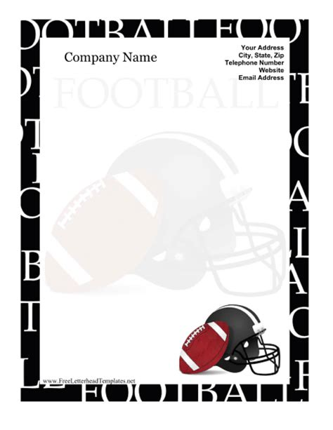 Football Letterhead Free Football Program Templates