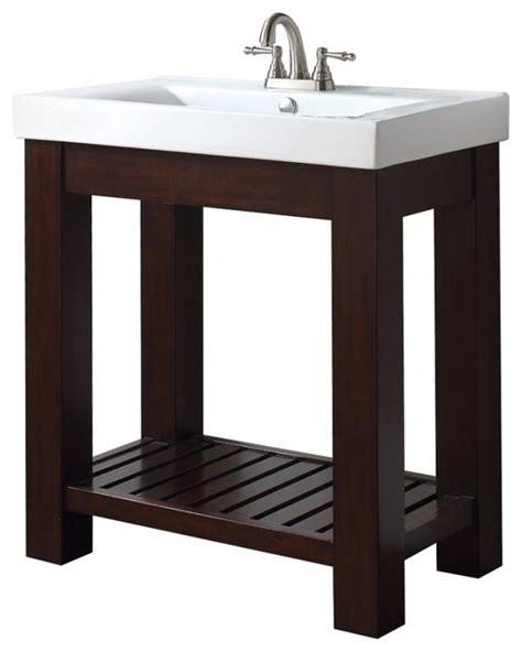 Vanity With Open Shelf by 31 Inch Single Bathroom Vanity With Open Shelf