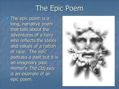 ppt the epic the epic and the tragic