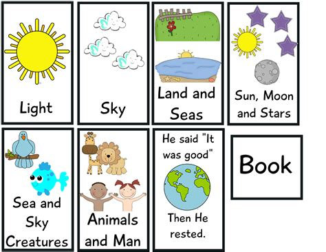 the crazy pre k classroom the story of creation flip book