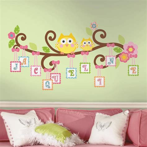 letter wall decals for rooms roommates rmk2079gm scroll tree letter branch peel and stick wall decal home