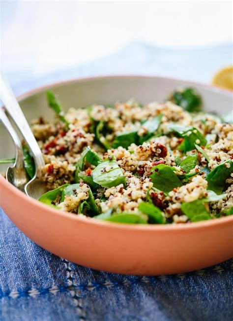 quinoa salad recipes sun dried tomato spinach and quinoa salad cookie and kate