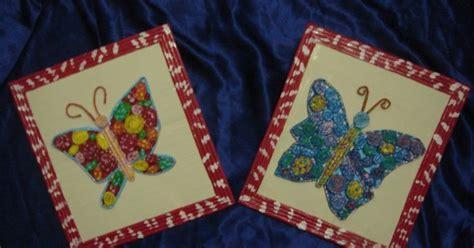 Lu Bentuk Kupu Kupu Bekas dunia kita pigura dan kreasi kupu kupu dari kertas koran